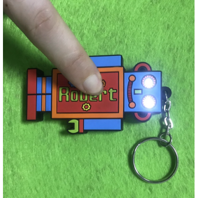 LEDPVC發光軟膠鑰匙扣